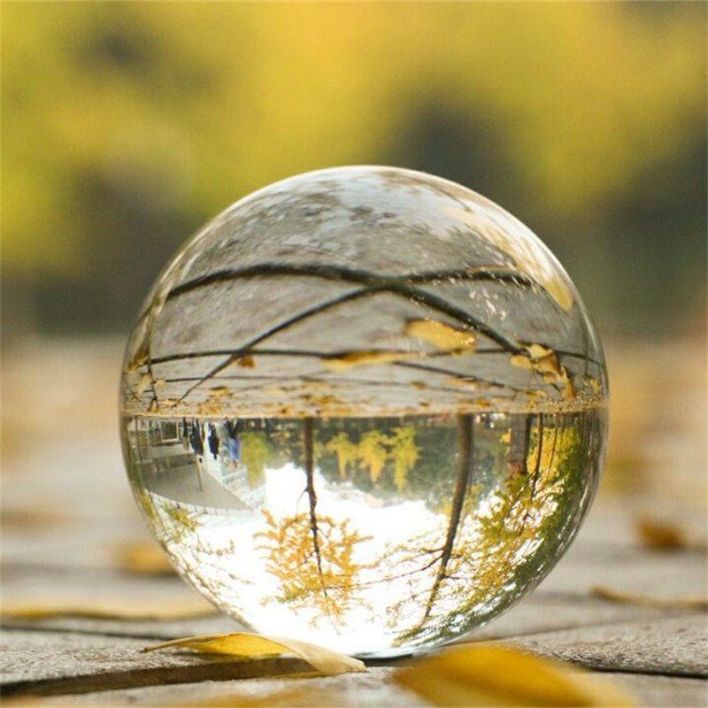 Şeffaf Kristal Top Doğal Şifa Taş 60mm Moda Süsler Sanat Kadın Adam Ofis İş Şanslar Kristaller Topları Hediye 7 9ey K2