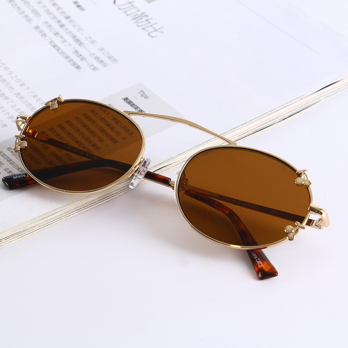 Корейский металлический персонализированные солнцезащитные очки модные очки мужские и женские овальные