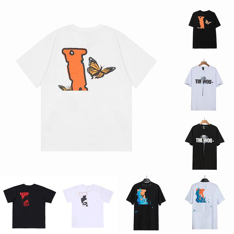 Летние Мужские Женщины Дизайнеры T Рубашки Свободные Тис Мода Бренды Топы Человек Случайные VLONESРубашка люкс одежда Уличные шорты рукав одежда футболки