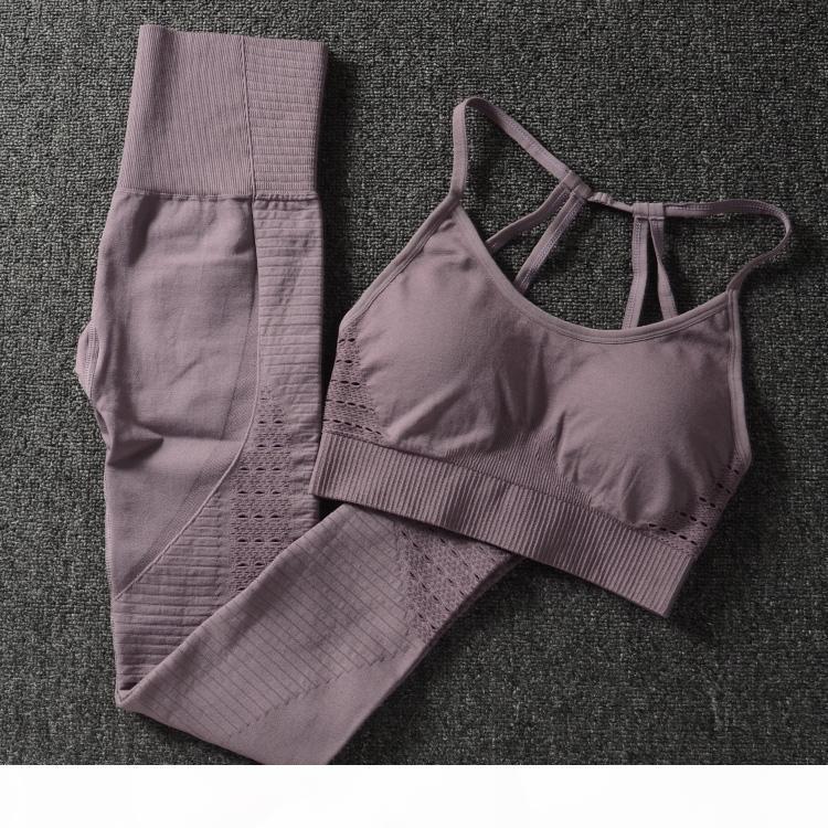 Fitnessstudio 2 Stück Set Training Kleidung Für Frauen Sport BH Und Leggings Set Sportkleidung Für Frauen Gym Kleidung Athletische Yoga Set36