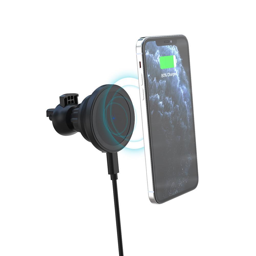 15W Magnetisches kabelloses Ladegerät für iPhone tragbare magnetische schnelle kabellose Ladekissen für Samsung Huawei Wireless Ladegerät