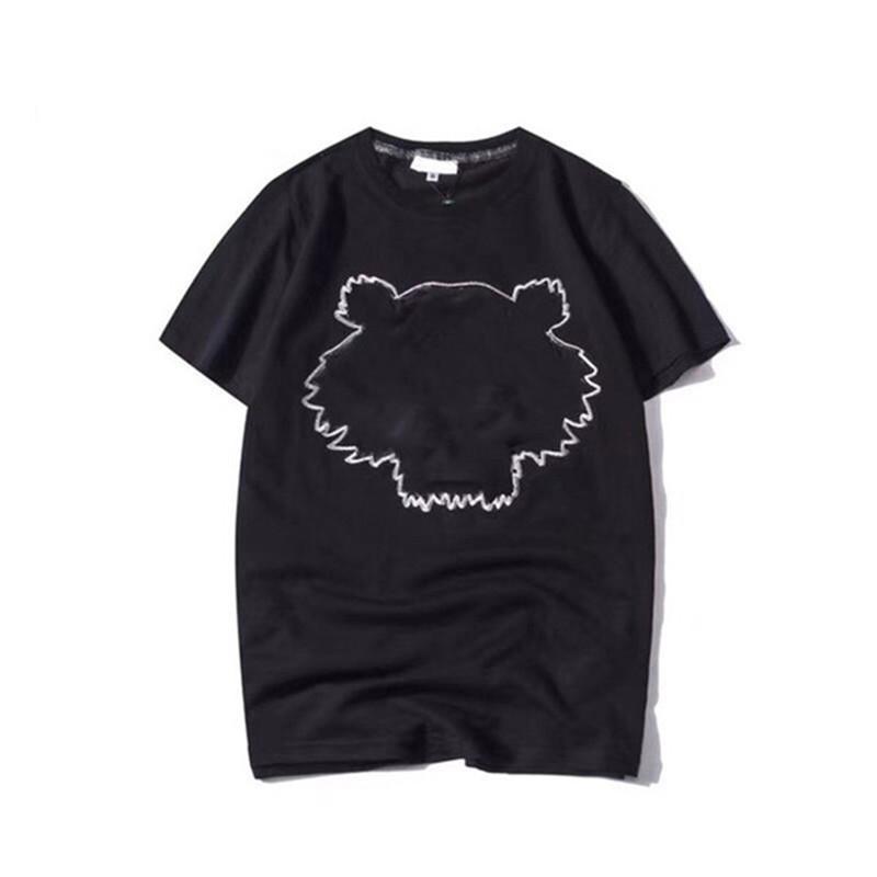 2021 Ünlü Erkek T Gömlek Yüksek Kaliteli Erkek Kadın Çiftler Rahat Kısa Kollu Sıcak Satış Kaplan Erkekler Ve Kadın T Gömlek