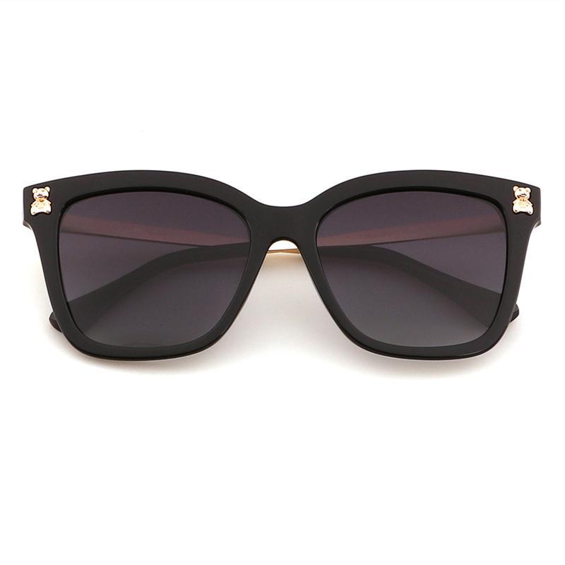 Lunettes de soleil polarisées pour femmes Protection UV Beach Sports lunettes métalliques cadre rétro lunettes 5 couleurs