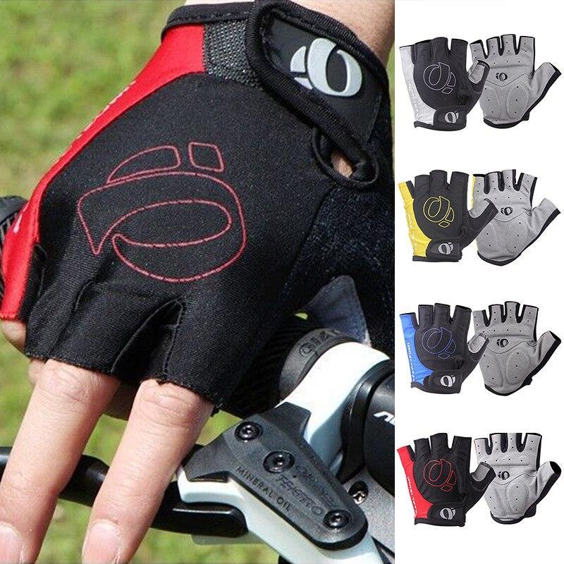 1 мырь наполовину палец велосипедные перчатки против скольжения анти-пот гель велосипедные перчатки против ударных MTB дорожный горный велосипед спортивные перчатки