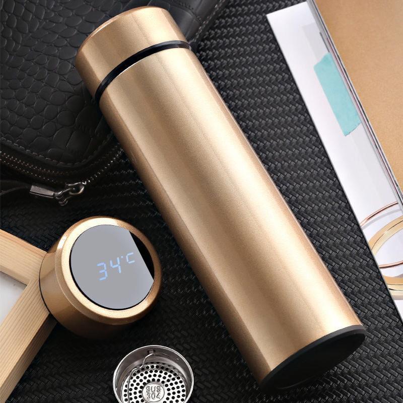 دي إتش إل موضة جديدة الأزياء الذكية القدح عرض درجة الحرارة فراغ الفولاذ المقاوم للصدأ زجاجة المياه غلاية الحرارية كوب مع شاشة LCD لمس الشاشة هدية كأس