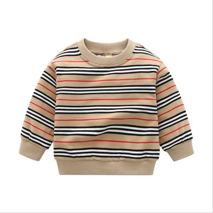 2021 Arrivées Baby garçon rayé pulls pulls printemps automne garçons tricoté pulloverts enfants coton sweat-shirt enfants perdus pull