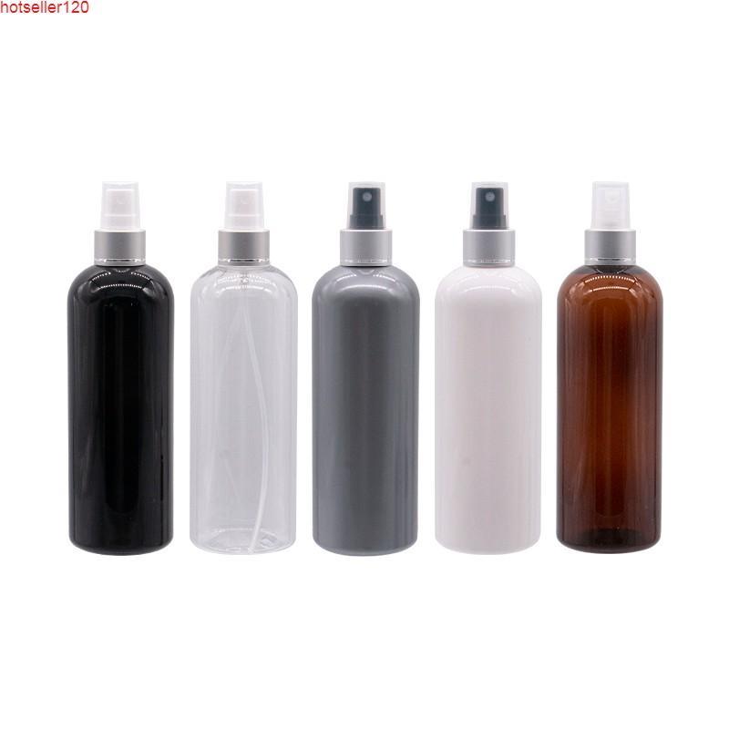 Gümüş Sprey Pompası Ile Boş Plastik Şişeler 300 ml Parfüm Seyahat Ambalaj için 300 ML 12 adet Kozmetik Şişe Mist Püskürtücü Konteyner Yüksek Quatiy