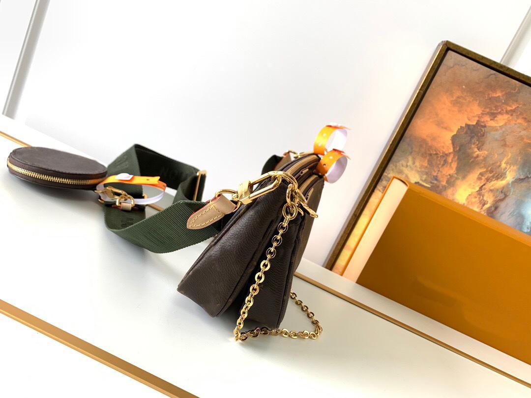 Designer di alta qualità donna catena a tracolla in pelle multifunzione borse borse sacchetti di grande capacità nuovo messenger lussurys reale quadrato triplo HHDA