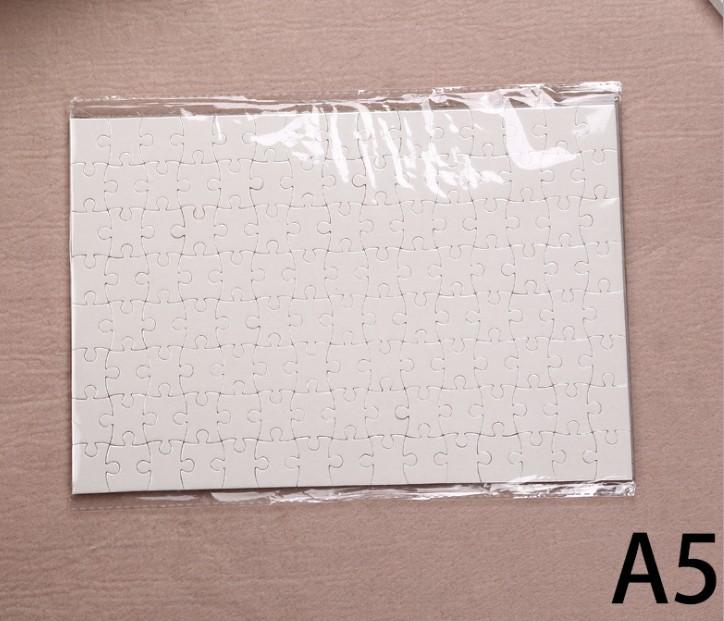 A5 size DIY Sublimation Puzzles Blank Puzzle Jigsaw Heat Printing Transfer Local Return Gift for DIY lovers