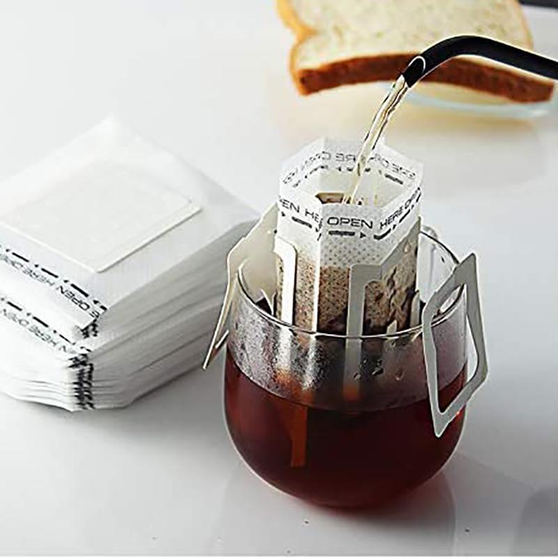 50pcs Café Papier Sac à café écologiquement respectueux de l'éco-respectueux de l'oreille suspendue Café Tea Papier de tir à la maison pour bureau à domicile