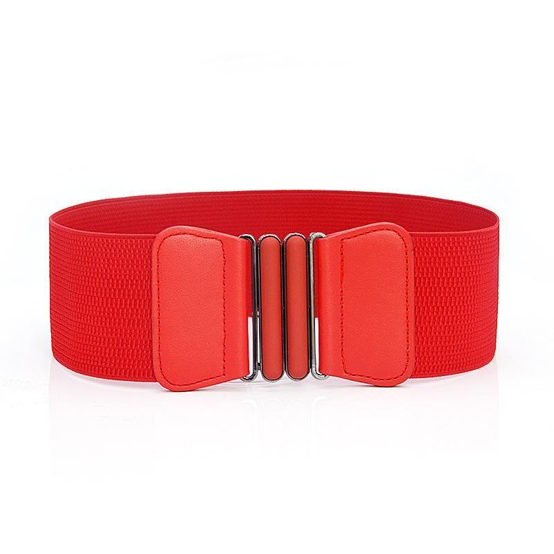 Cinture in vita cintura moda signora Solido stretch elastico ampio abito ornamenti per donne cintura in vita 7,5 cm larghezza 64 cm lungo