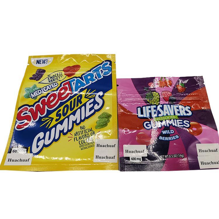2021 Sıcak Satış Çantaları 600 mg Yaşam Koruyucular Sweetartes Gummies Mylar Çanta Benim Sakızlı Şeker Çanta Koku Geçirmez Fermuar Yenilebilir Ambalaj Stokta