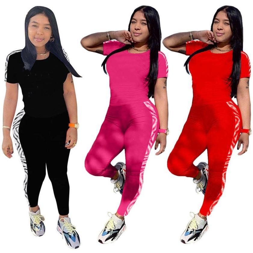 Designer Summer Abbigliamento Donne Abiti da jogging Tuta da jogging Casual Tracksuits 2 pezzi Set T-shirt manica corta Leggings Plus Size Sportswear 4522