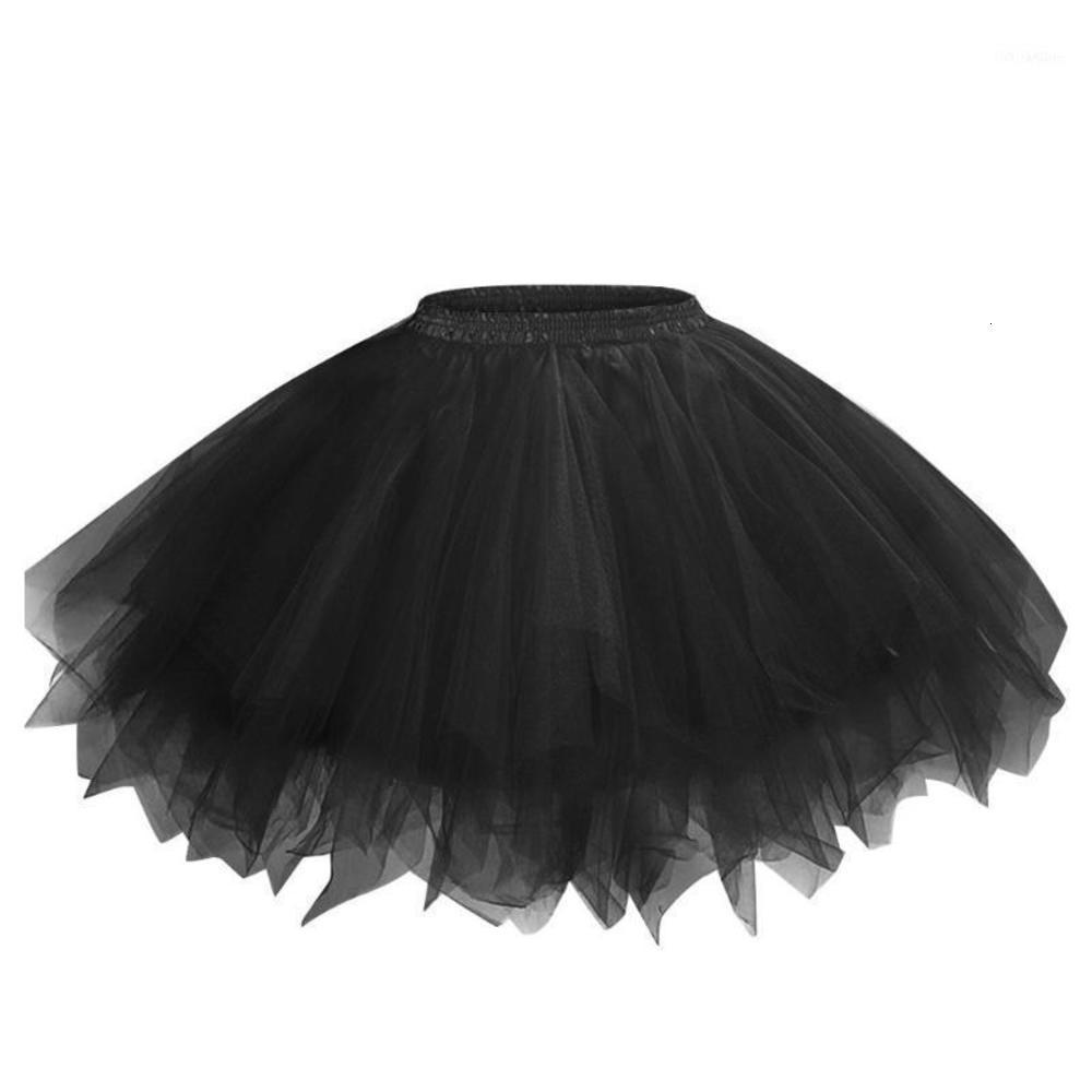 Faldas de tul de malla sólida Mujer Princesa Elástica Club Fiesta Mini falda Mujer adulta Tutu Tutu Faldas Dancing Jupe Femme1