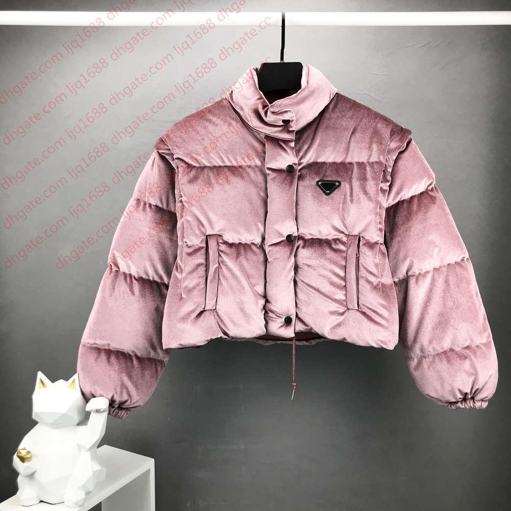 2020 Kış Ceketler Bayan Tasarımcı Jakcet Retro Hip Hop Seksi Kısa Ceket Dahili Naylon Astar Kumaş Çıkarılabilir Kollu EUR Boyutu Lüks Ceket