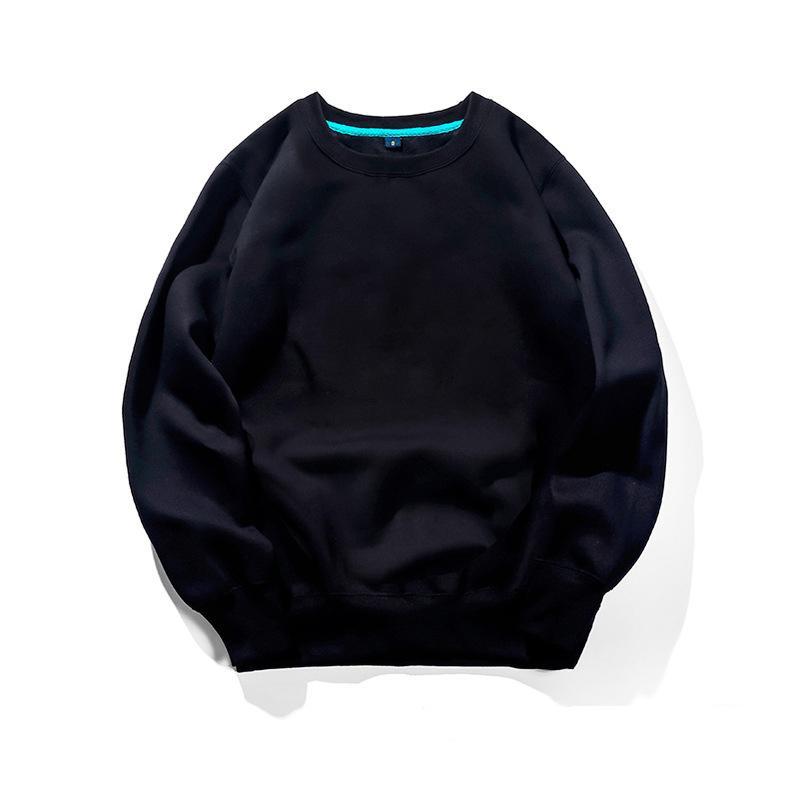 Supzoom 2021 Llegada en caliente Salenone Hip Hop Sartee de algodón cuello sólido Cuello liso Suéter fino Yaw5