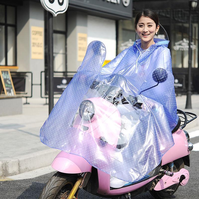 Yağmurluklar Şeffaf Yağmurluk Kadınlar Pembe Motosiklet Erkekler Bisiklet Için Su Geçirmez Regenmantel Rainwear QQG424