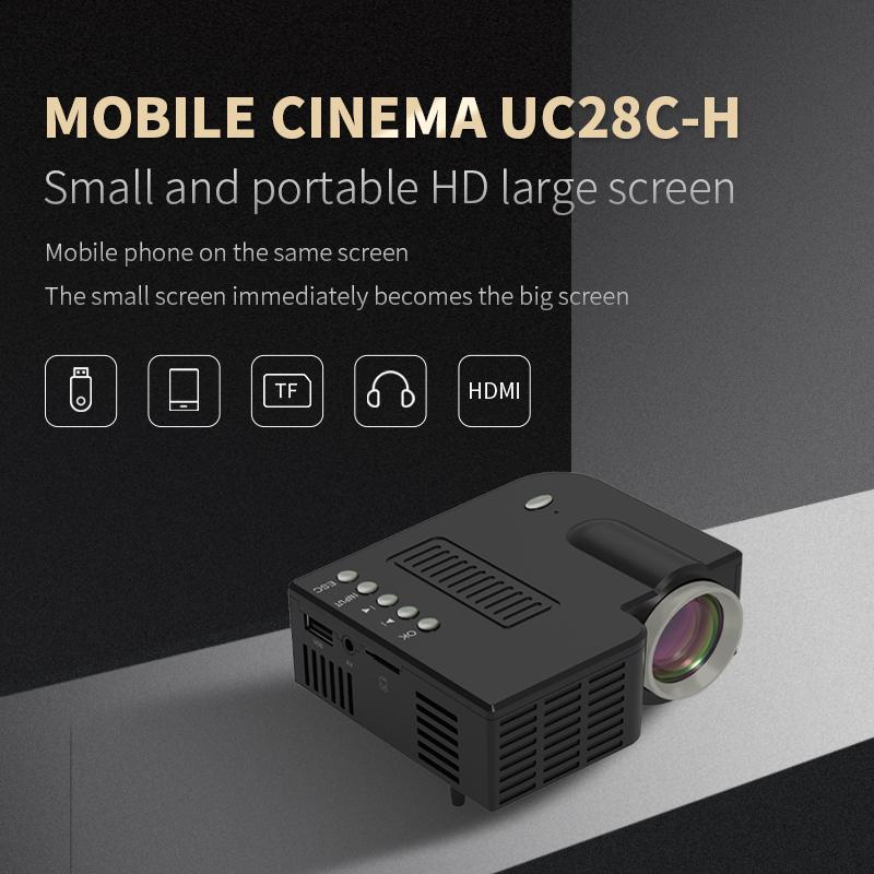 تحديث UC28C البسيطة المحمولة العارض السلكية نفس الشاشة 1080P مسرح منزلي الترفيه وسائل الإعلام لاعب لعبة متعاطي المخدرات فيلم جهاز العرض
