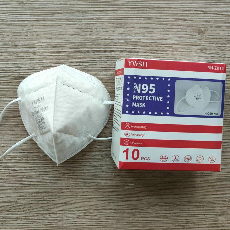YWSH N95 Niosh Máscara EUA Whitelist Designer Face Mask KN95 Respirador Filtro Anti-Nevoeiro Haze e Influenza Dustável Reusável 5 Camada Venda Quente