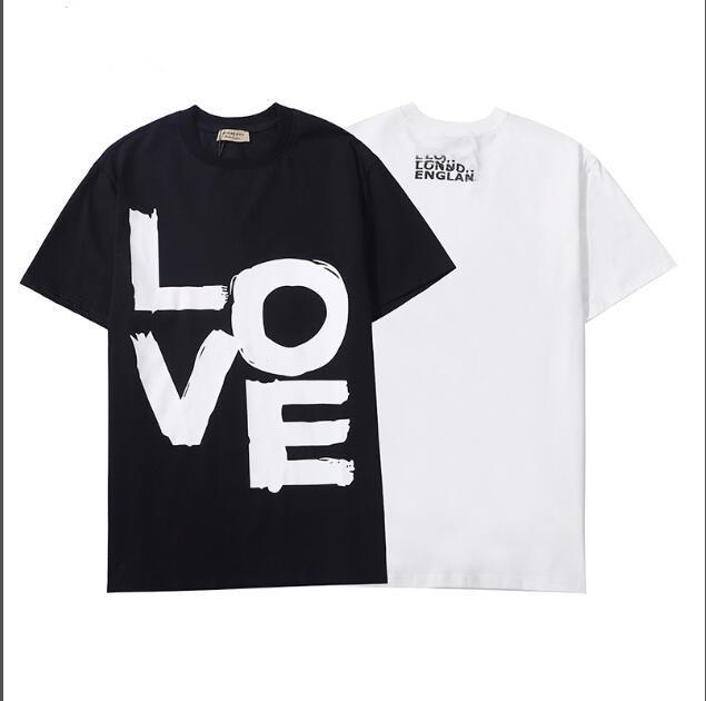 2021 Neue kurzärmlige Buchstaben Drucken Kurzarm Rundhalsausschnitt Baumwolle T-Shirt Allgleiches Lässige Männer und Frauen Dasselbe T-Shirt