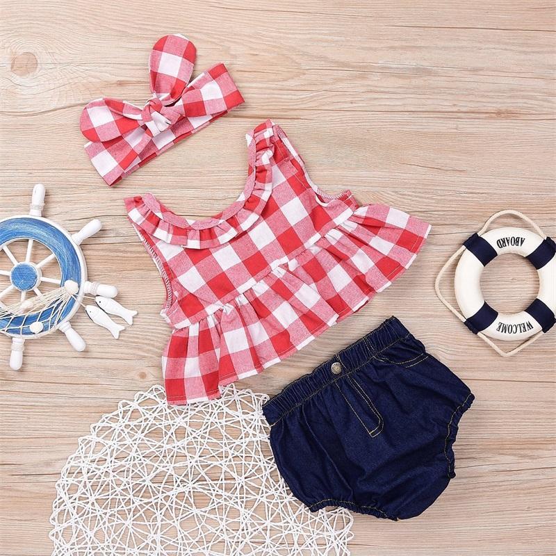 Bebê Roupas Girls Grade Grade Tassel Ternos Kids Bolka Dot Roupas Conjuntos de Moda Boutique Camiseta Macacado Fralda Calças Calças de Headbits 315 U2