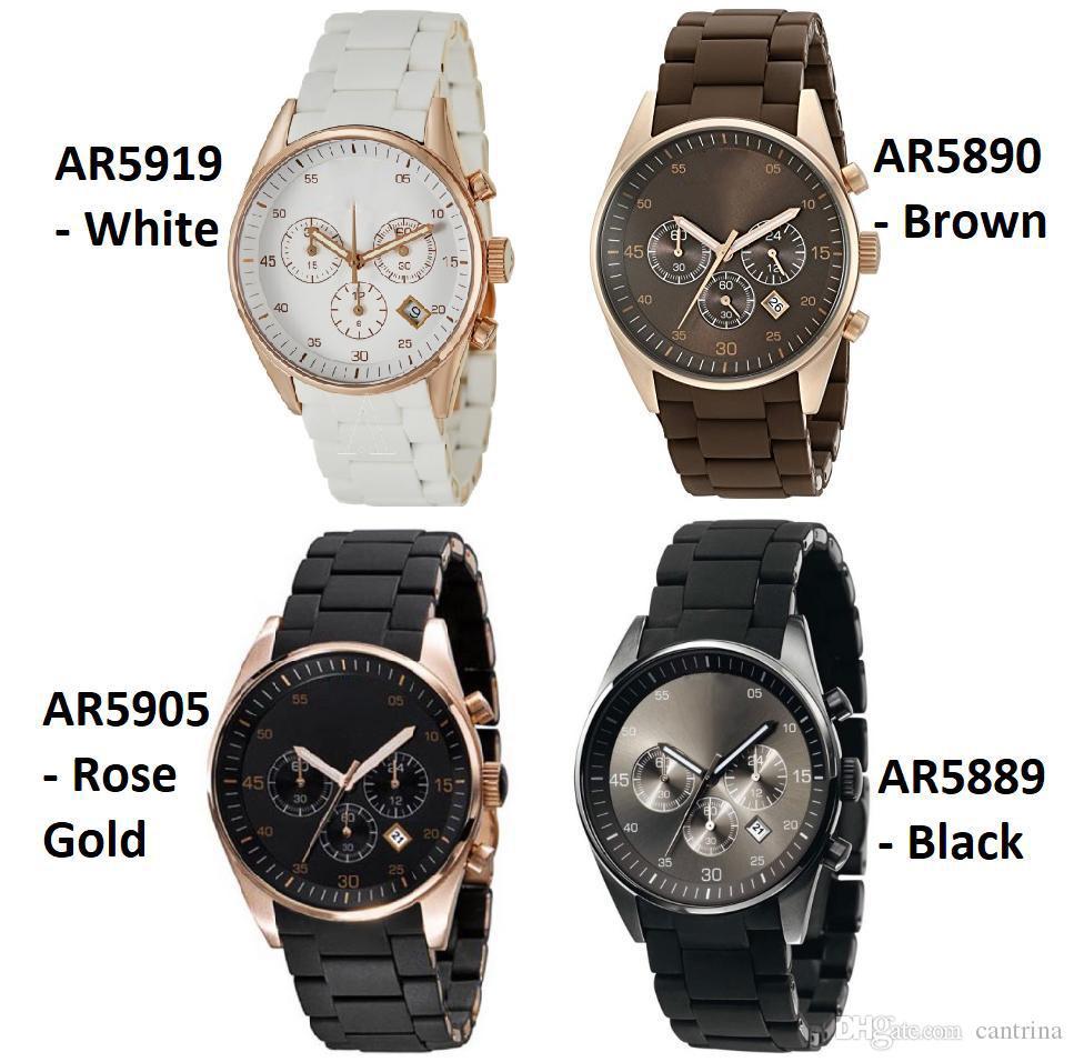 2021 Hombres de alta calidad Reloj AR5905 AR5906 AR5919 AR5920 Mujeres Clásicas Reloj de pulsera Reloj Hombres Reloj Caja original con certificado