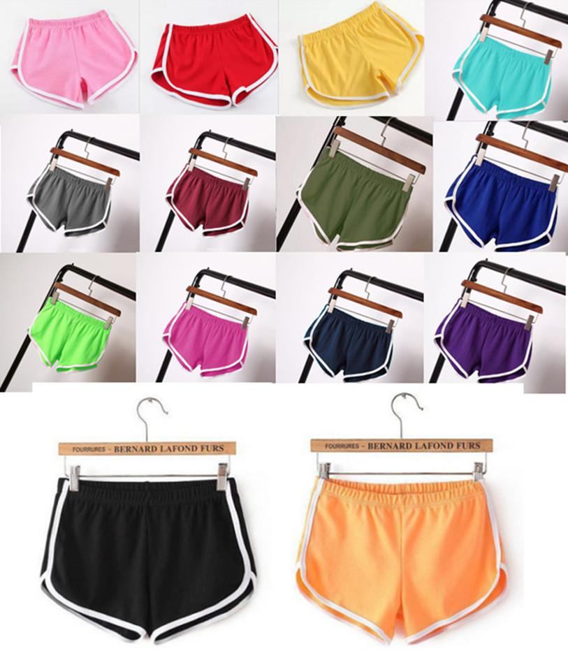 Плюс размер женщин сексуальные шорты летняя повседневная одежда 3xL один кусок конфеты сплошной цвет пляж одежда йога простые капризы одежда бесплатная доставка 4585