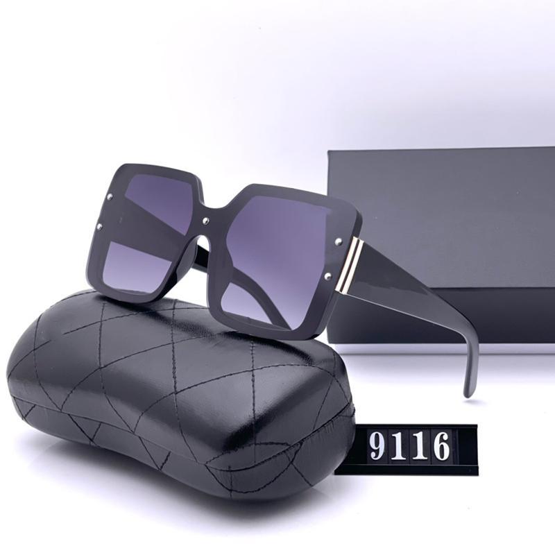 أربعة ألوان مصمم النساء النظارات الشمسية الأزياء عارضة عالية الجودة hd الاستقطاب عدسات مربع القيادة نظارات مع حزمة 9116