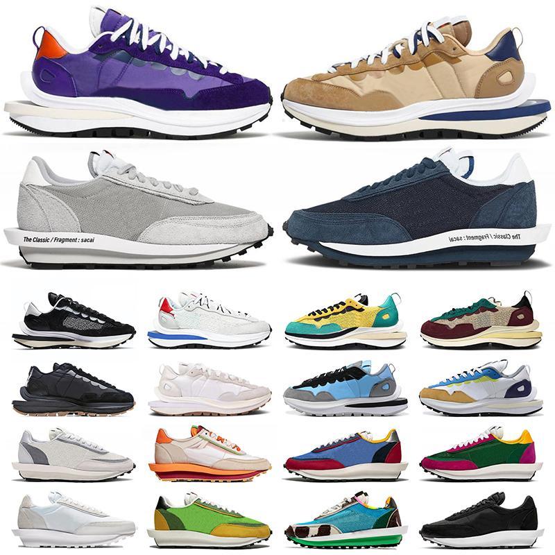 أحذية Nike Sacai x VaporWaffle Pegasus LDV Waffle Fragment احذية رجالية Blue Void Wolf Grey Daybreak Dark Iris Sesame Chunky Dunky Sail White احذية رياضية رياضية
