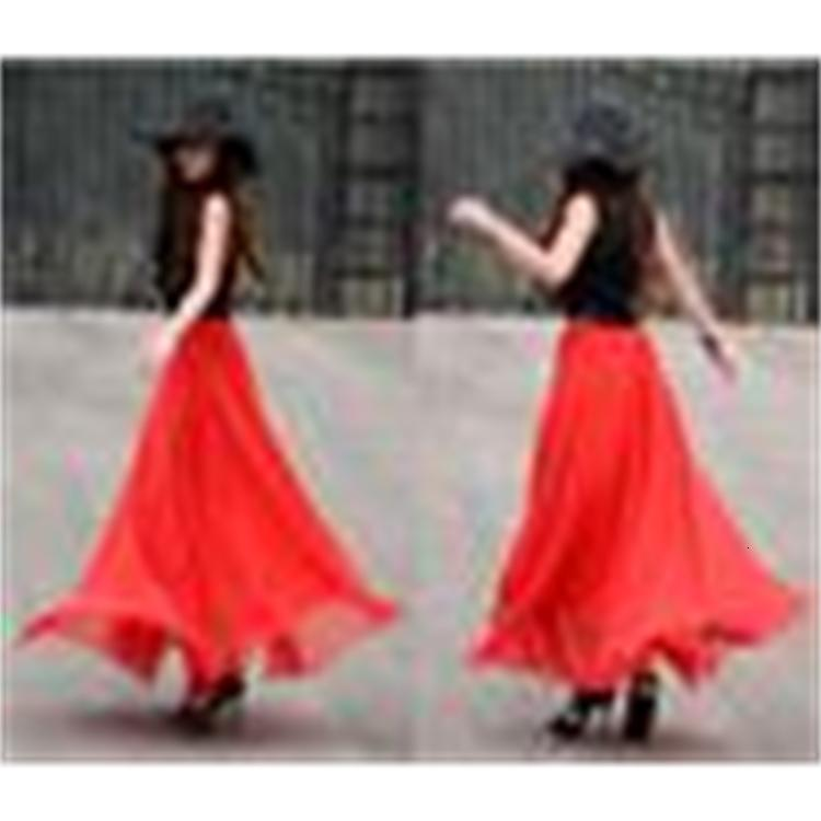 Casual Hot Summer Skirts Fashion Women Chiffon Skirt Runway Dress Sexy Long Skirt Club Party Dress Ladies Summer Skirts