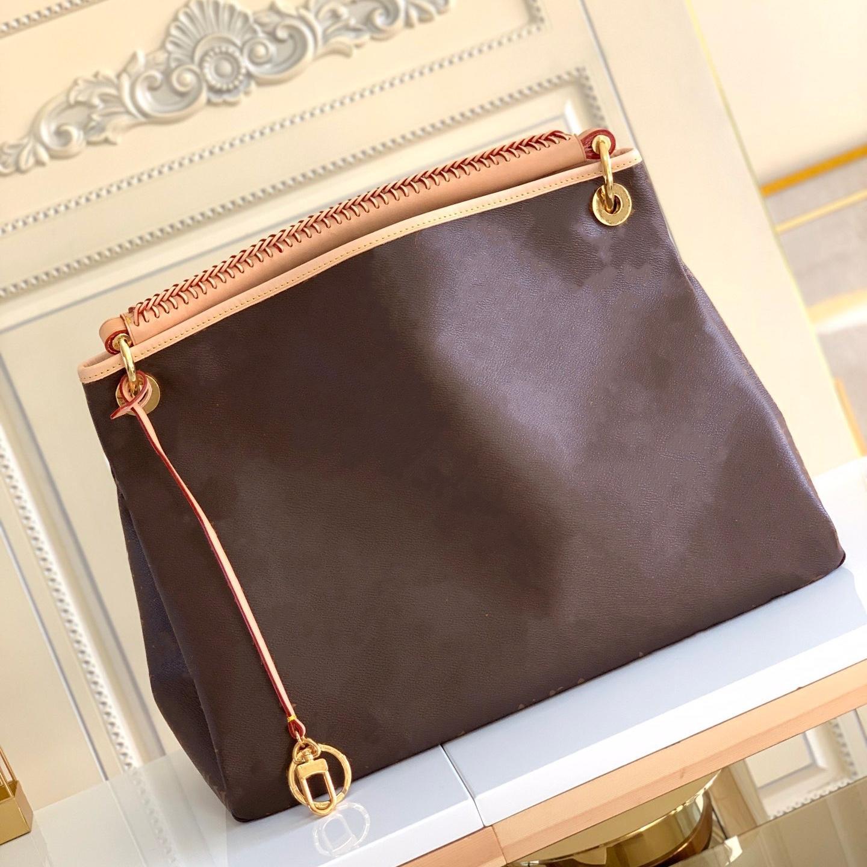 Frauen Große klassische Handtasche WEAVED Leder Große Griff beschichtete Leinwand Blume Gedruckte Dame Riesige Einkaufstasche Qualität Umhängetasche