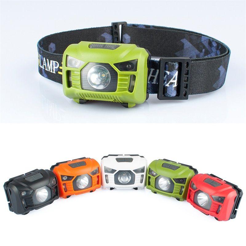 Capteur de mouvement du corps LED Capteur de mouvement Mini phare rechargeable Camping extérieur de la lampe à lampe à lampe de poche avec USB ZZA864 15 x2
