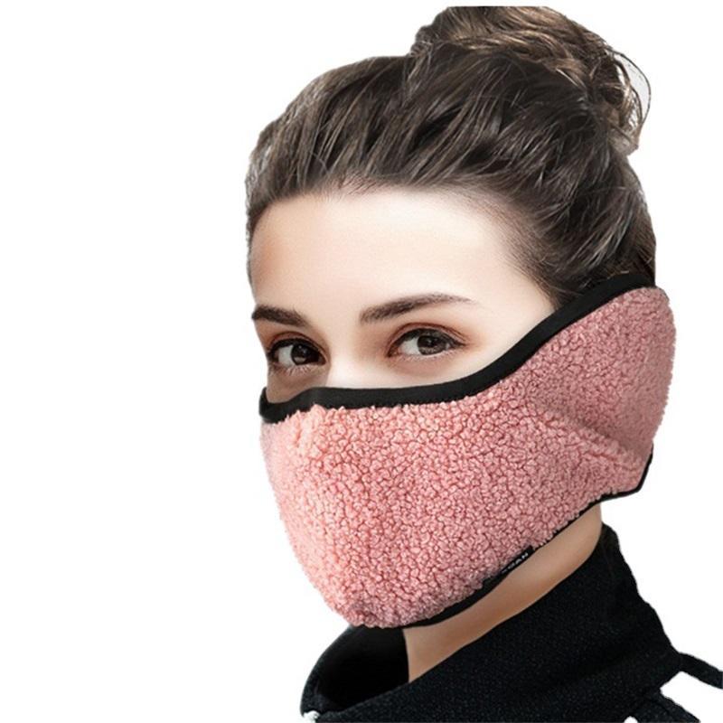 Unisex Earmuff Teddy Cashmere Máscaras Agrícolas All-Inclusivas Máscaras Riding Reutilizável Lavável Respirável Dustproof Máscara Frio 126 V2