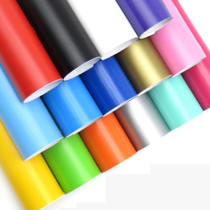 프리미엄 18 색 매트 비닐 필름 자기 접착 무광택 자동차 랩 호일 오토바이 자동차 스티커 데칼에 대 한 무료