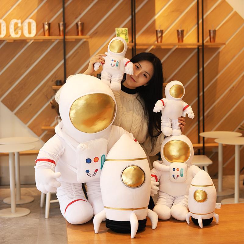 Peluche astronauta e astronave giocattolo farcito morbido scienza fiction tipo bambola morbida giocattoli per bambini giocattoli creativi giocattoli per bambini regalo di compleanno 201204