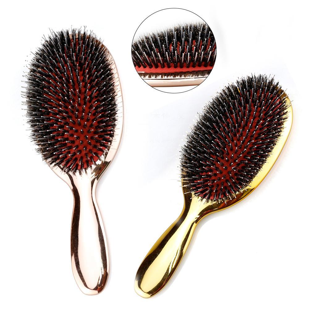 Yabancı Kıl Saç Fırçası Güzellik Kuaför Masaj Tarak Salon Kuaförlük Şekillendirici Araçları Pürüzsüz Kaplama Kıvırcık Detangler Fırçası 210302