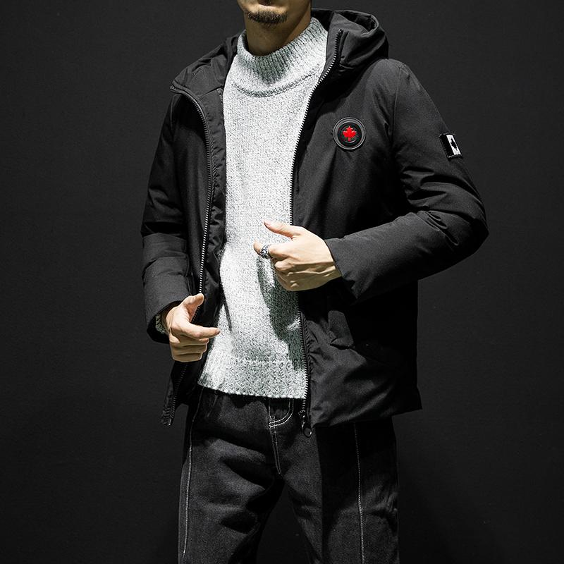 Grande veste d'hiver à capuche Hommes chauds Canada Maple feuille populaire Manteaux de conception de chapeau de chapeau de chapeau de chapeau de chapeaux hommes vêtements 8090 s92c