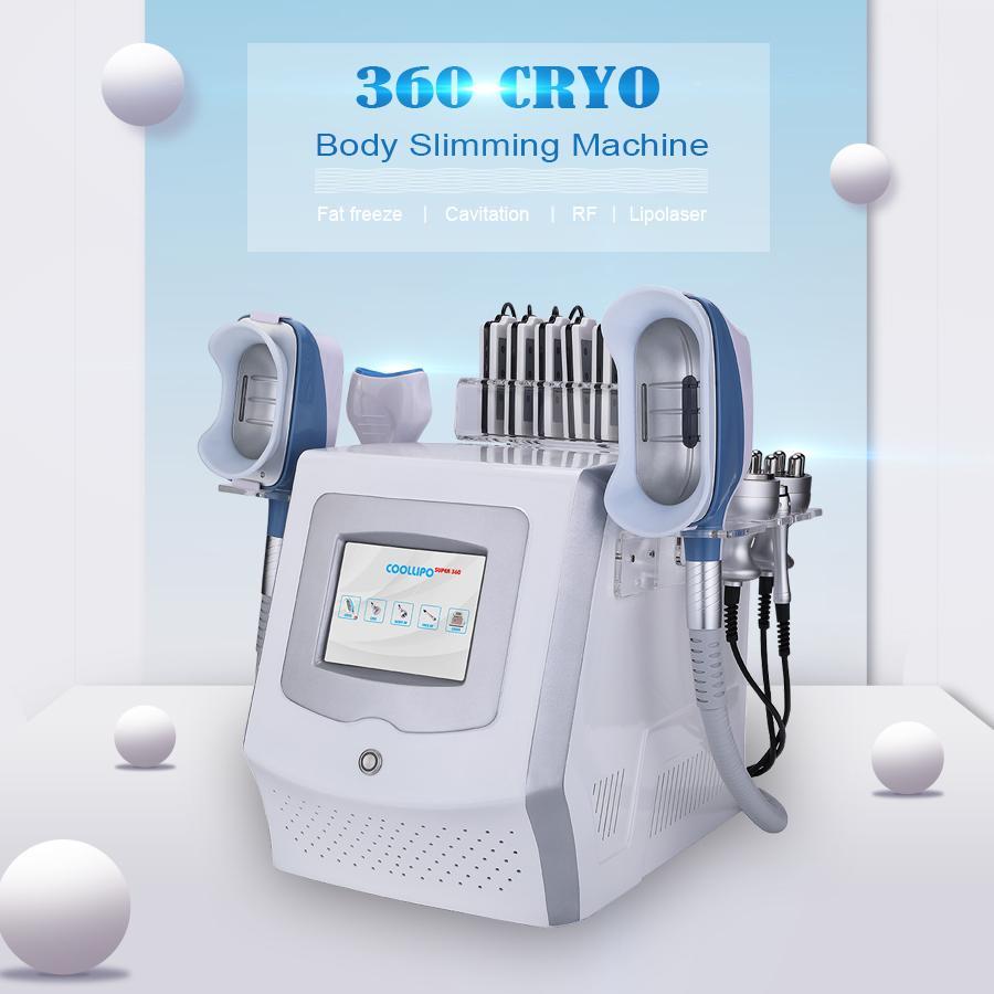 2021 Cryolipolysis Fig Feat Feat Portable Cryo Máquina Adelgazante Máquina de vacío Reducción Crioterapia Congelación Cavitación RF Lipolaser Liposucción