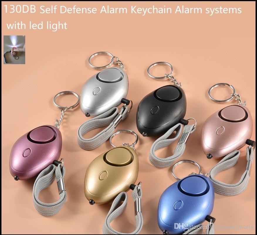 130db أنظمة إنذار الدفاع الذاتي مع ضوء LED لفتاة النساء أمن الكبار حماية تنبيه السلامة الشخصية الصراخ بصوت عال