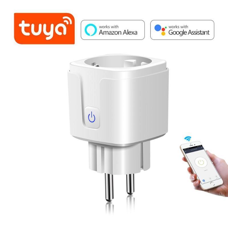 스마트 파워 플러그 Tuya Life WiFi 플러그 EU / 미국 / 영국 / AU / BR 어댑터 원격 음성 제어 타이머 소켓 Google 홈 Alexa