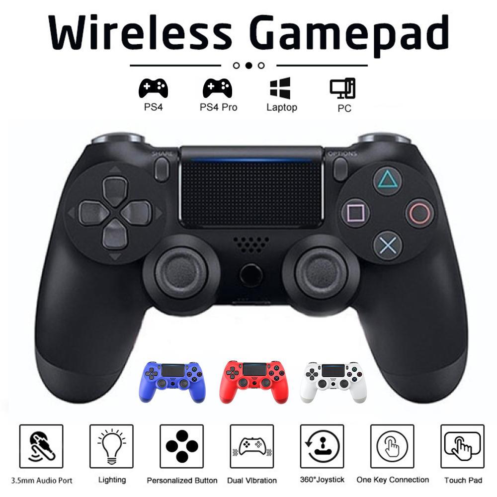 Kablosuz Gamepad Bluetooth Kablosuz Gamepad PS4 Denetleyicisi Için Çift Titreşim Gyroskope PC Video Oyunları Joypad Mando PS4 Controle 210317