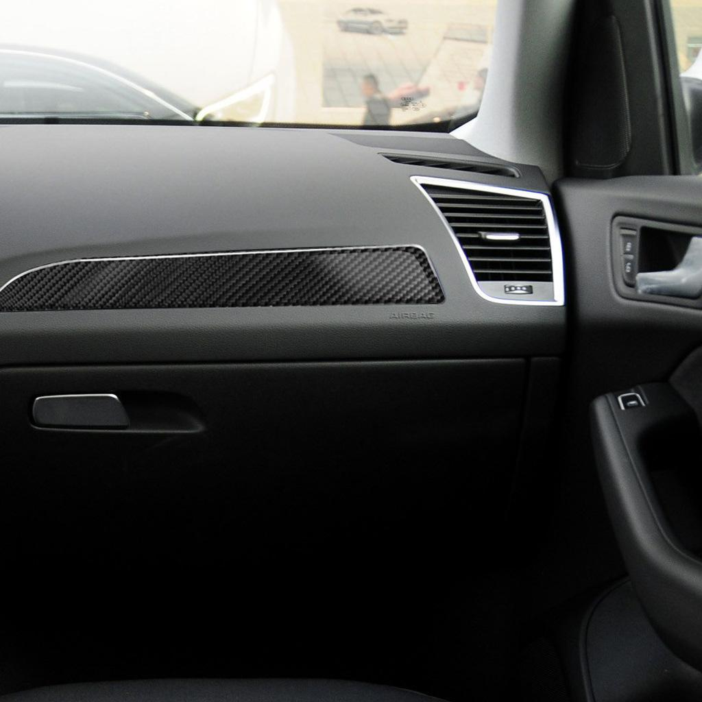 Для Audi A4 B8 A5 Refit Car Carbold Fibre Console Control Glove Box Cover Trim Cars Acbersage Interior Decoration Goods Наклейки