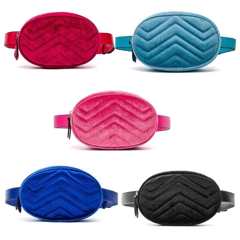 Талия Fanny Pack Женская кожаный бархатный пояс Zipper талия сумка путешествия кошелек пляж