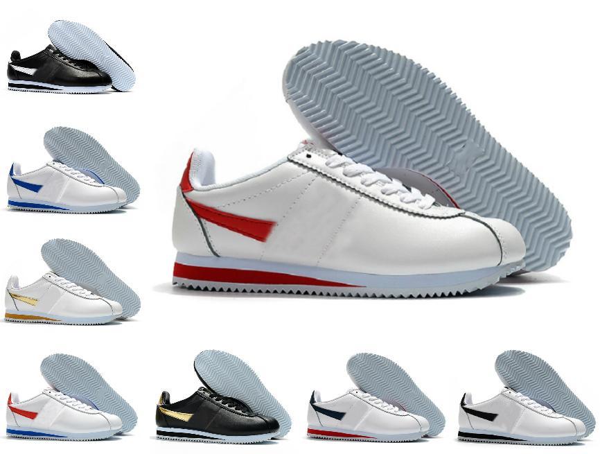 Haute Qualité 2021 Classique Cortez Nylon RM Chaussures de course Rose Noir Blanc Blanc Blanc Blanc Léger Chaussures Cortez Coating BT QS Sneakers Tn Shoe