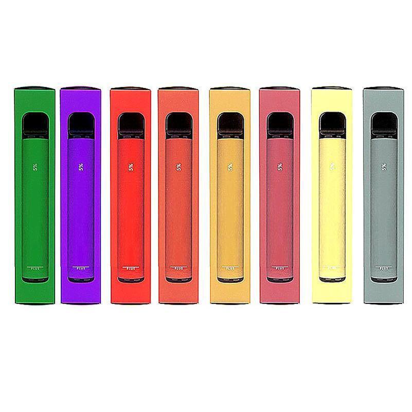 Puff Bar Plus Disposable Pod E Cigarette Device 800 Puffs 550mAh Battery 3.2ml Cartridge Vape Pen PK Flex Bang XXL