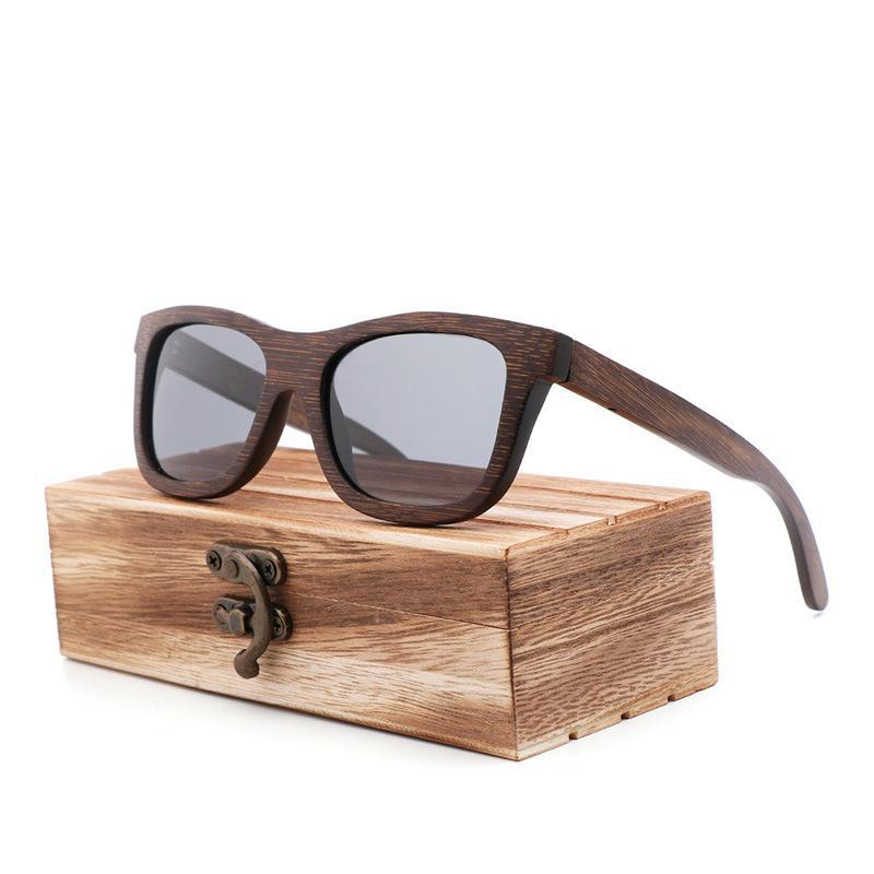 العلامة التجارية الترقيات الرجعية الرجال الاستقطاب النظارات الشمسية نوعية جيدة الخيزران الخشب اليدوية نظارات الشمس المرأة هدية الخيزران مربع خشبي
