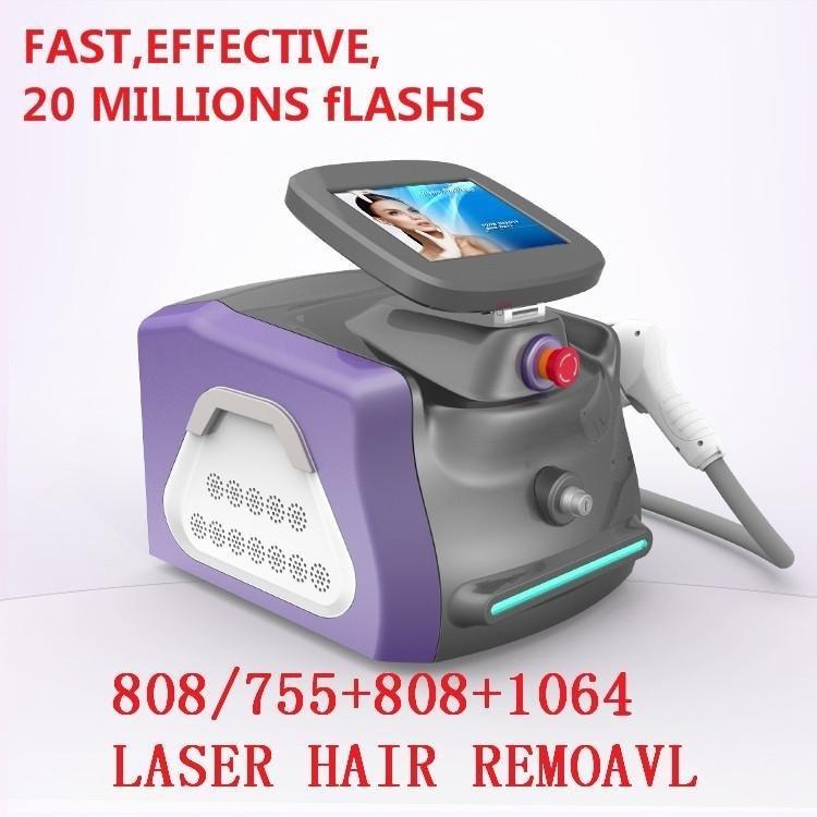 New Style Portable 808nm Diodenlaser Permanent Haarentfernungsmaschine Fabrikpreis für Schönheitssalonausrüstung