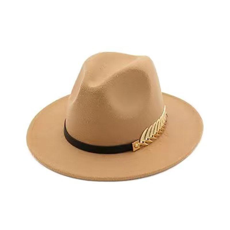 Geniş Ağız Şapkalar erkek Şapka Kadın Kap Yaz Fedoras Yün Keçe Bahar Plaj Kış Siyah Güneş Bağbozumu Moda Katı Yaprakları