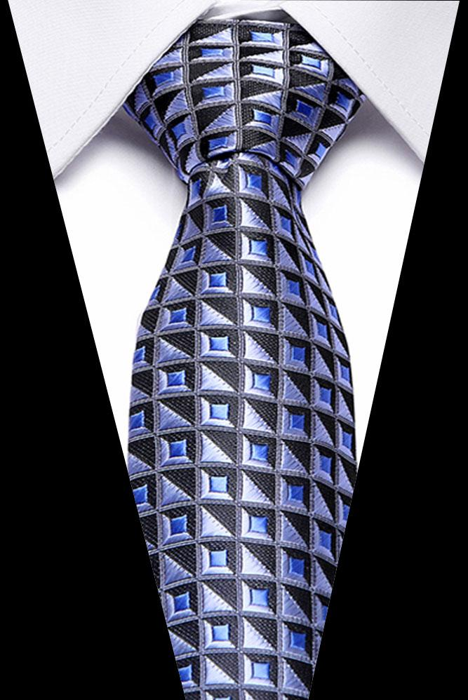 Redayado en stock Masculino azul oscuro a rayas de lujo corbata 100% seda de seda para hombre fiesta de boda formal