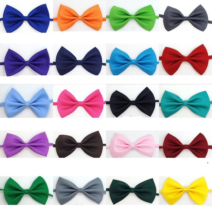 Adjustable Pet Dog Bow Tie Neck Accessory Necklace Collar Puppy Bright Color Pet Bow Mix Color HWD5065